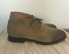 BARNEY'S NEW YORK CO OP Tan Suede Boots made in Italy Mens sz 10 M