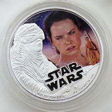 Niue 2016 $2 Star Wars: The Force Awakens: Rey 99.9% Pure Silver Color Proof