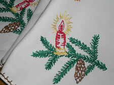 Alte Weihnachtsdecke Mitteldecke  71 cm / 68 cm Handarbeit  Shabby Chic Vintage
