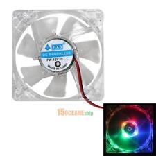 2Pcs Gehäuse LÜFTER 80mm LED BELEUCHTET PC FAN leise transparent Gehäuselüfter