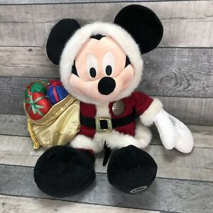 Christmas Mickey Mouse Disney Stamped Plush - Santa Claus Limited Edition - Rare