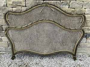 And So To Bed King Louis XV Metal & Cane Divan Bed Surround Vintage Frame