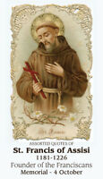 St. Francis of Assisi Prayer Card (10-pack)
