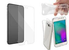Handyhülle Schutz Hülle TPU Silikon Schale Tasche Transparent + Panzerglas Folie