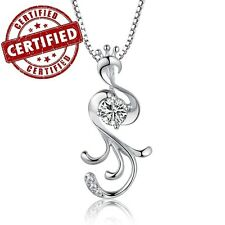 Certified Solid Sterling Silver Phoenix Pendant w/ 18'' Sterling Silver Necklace