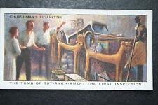 TUTANKHAMEN TOMB   EGYPTOLOGY   Original 1930's Vintage Card