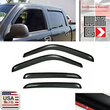 Window Deflector Visor Shade Rain Guard For 2002-2006 Chevy Avalanche 1500/2500