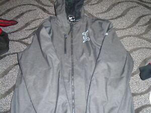 Adidas Louisville Basketball Team Issued Gray Travel Zip Hoodie Jacket  LG