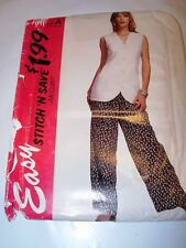 WOMENS UNCUT mccalls Pattern 7041 COMFORT VEST LOOSE ELASTIC PANTS SIZE 10-16