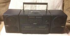 SONY CFD-470 Portable CD Dual Cassette AMFM Radio Stereo Boombox AS-IS Repair