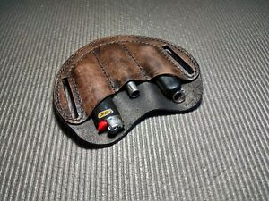 EDC leather organizer. Belt organizer. EDC pocket organizer.(dark broun,black)