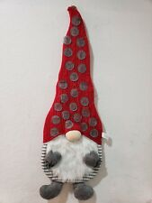 CHRISTMAS SANTA GNOME SANTA ADVENT COUNTDOWN HANGING WALL CALENDAR DECOR 39""