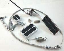 """Aluminum Gas Throttle Pedal Kit W/ 36"""" Stainless Cable Brake Pad & Dimmer Pad"""