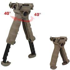 Tan Defense Rotating Tactical Vertical Fore Grip Bipod T-POD Shooting Sticks