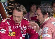 Niki Lauda & Clay Regazzoni Ferrari F1 Portrait 1975 Photograph