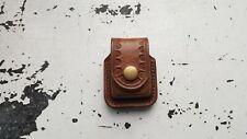 Handmade Vintage Leather Zippo Pouch/ Case to wear on belt