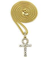 Collier Egypte avec pendentif  croix de vie - ankh avec pierre de strass
