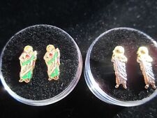 ST JUDE Screw Back Earrings in 14K GOLD 2 to chose/ SAN JUDAS ARETES escoja de 2