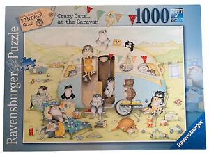 Ravensburger 1000 Piece Jigsaw Puzzle Crazy Cat Caravan Complete Christmas