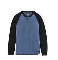NWT Timberland PRO Men's Cotton Core LS Henley, Vintage Indigo/Black Size M