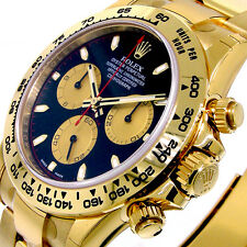 UNWORN ROLEX 116508 DAYTONA YELLOW GOLD BLACK PAUL NEWMAN DIAL 116508