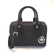 NEW WOMEN'S MICHAEL KORS ARIA SMALL BLACK SIGNATURE SATCHEL CROSSBODY HAND BAG