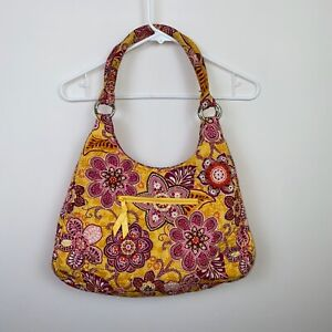 Vera Bradley Emily Satchel, Nomadic Floral Nice Used Condition Red, Pink, Yellow