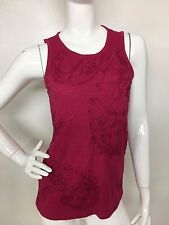 Lucky Brand New Women's Pink Embroidered Paisley Top Tee T-shirt Blouse L NWT
