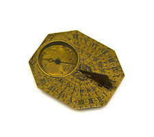 Antique 18th Century French Nicolas Bion Brass Pocket Compass Sundial
