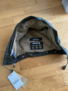 BARBOUR sylkoil OLIve cappuccio cotone Lightweight Hood