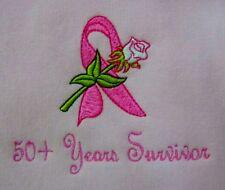 Pink Ribbon Rose Sweatshirt XL 50+ Years Crew Neck Breast Cancer Unisex New