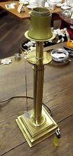 Lampe, Tischlampe, Messing, Säule, schlicht, hohe Qualität, matt/poliert