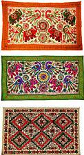 Indian Tapestry Elephant Wool Suzani Embroidery Handmade Large Wall Hanging UK