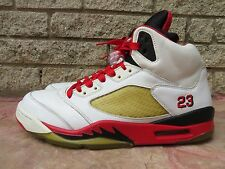 2006 Air Jordan Retro 5 Fire Red Size 12 Mens 136027-162 Used Read Description!