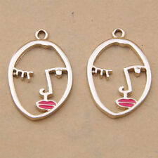 Enamel Charms Human face Pendants Bead DIY Necklace Earring Jewelry Making /1080