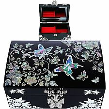 Korea Antique Jewelry Box Mother of Pearl Jewelry Box Gift Item HJL1001Black