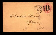 Mid 1800s Fancy Cancel New York Bar & Iron Cross Cover - L11707