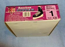 AMERICAN COUGAR BOY'S HOCKEY SKATES-SIZE 1- BRAND NEW; Original Box; Style 438