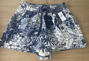OLD NAVY WOMEN'S XS DRAWSTRING High Waisted Aloha Print Shorts NEW NWT-Stylish!