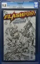 Flashpoint #4 cgc 9.8 Sketch Cover 1:25 low print run Flash movie