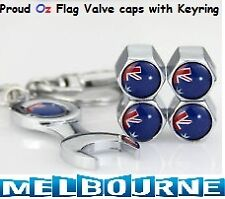 Aussie Oz Flag Australian Valve Stem Air Dust Cover Screw Caps Gift Souvenir