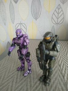 """Halo 4 Series 1 Spartan Soldier Purple And Green Action Figure McFarlane 2012 5"""""""