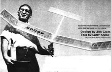 """Model Airplane Plans (FF): Witch Hawk 500 60"""" for A/B Engines by Jim Clem"""