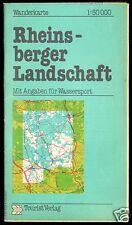 Wanderkarte, Rheinsberger Landschaft, 1986