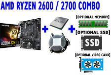 AMD RYZEN 5 7 2600 2700 CPU GIGABYTE GA-A320M-S2H DDR4 AM4 Motherboard SSD COMBO