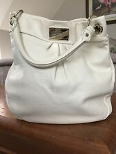 Authentic MARC BY MARC JACOBS Classic Q Hillier Hobo Cream/WhitE Leather Handbag