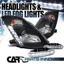 Fit 03-05 Nissan 350Z Z33 Fairlady Black HID Projector Headlights+LED Fog Lamps