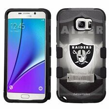 for Samsung Galaxy Note 5 Armor Case+Metal Kickstand Oakland Raiders #BG
