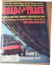 April 1976 Road & Track Magazine Radial Tire Comparison Test Lincoln Mazda