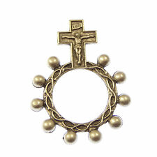 New silver metal Catholic rosary ring rosary beads 4.5cm